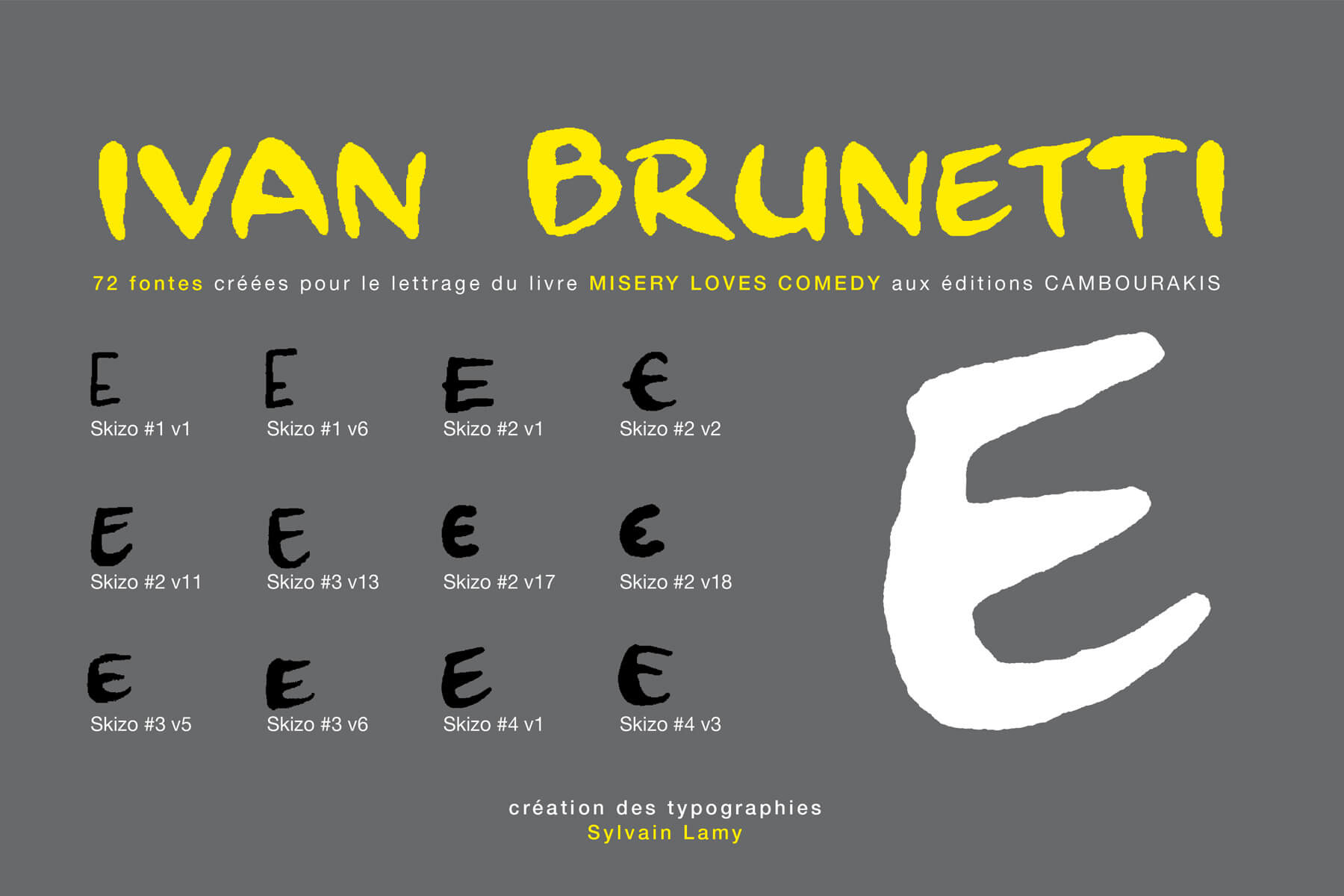 Éditions Cambourakis . typographie