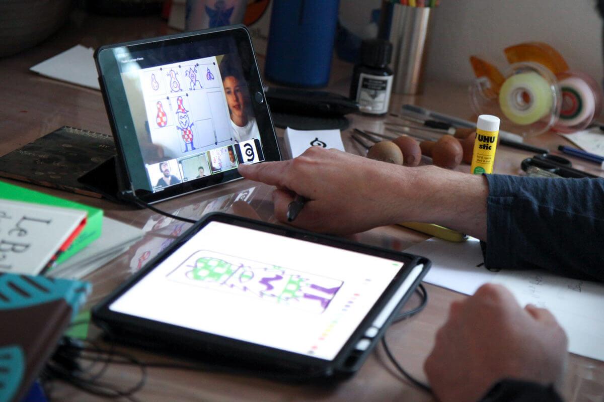rencontre zoom avec l'illustrateur Olivier Philipponneau