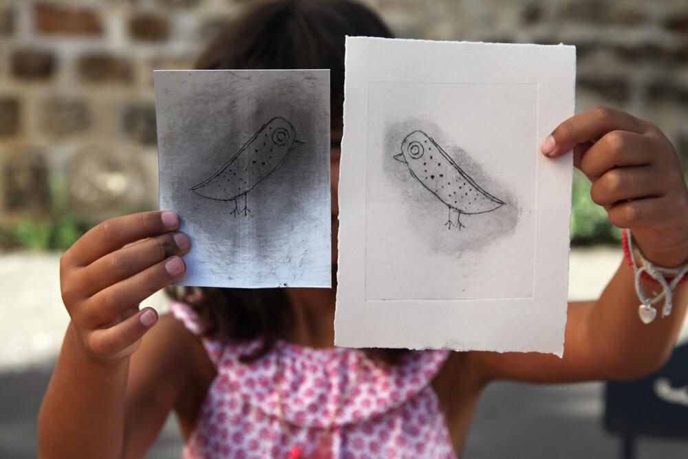 atelier gravure illustratrice Csil