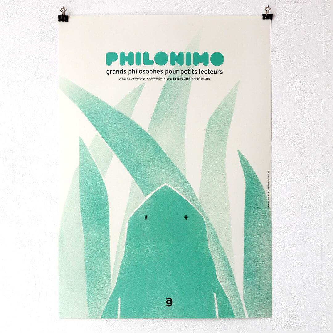 affiche Le Lézard de Heidegger - Philonimo 4
