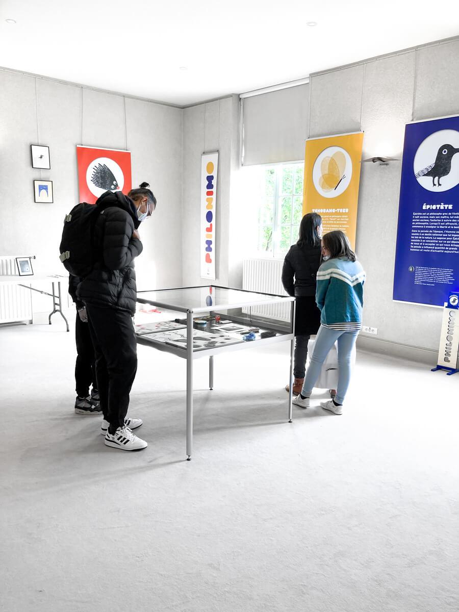 exposition Philonimo au salon du livre jeunesse de Troyes